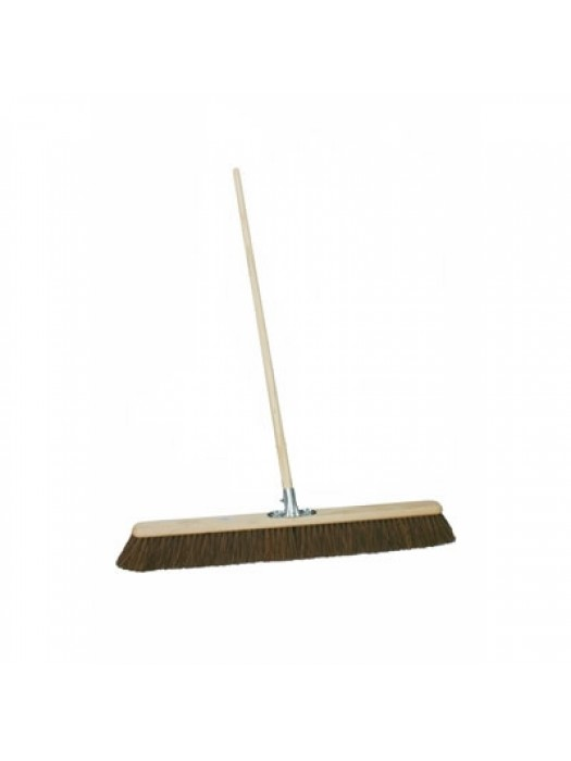 "Stiff Bass Pavement Broom 18"" 450mm with Socket & Handle"