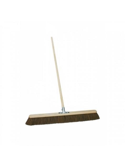 "Stiff Bass Pavement Broom 24"" 600mm with Socket & Handle"